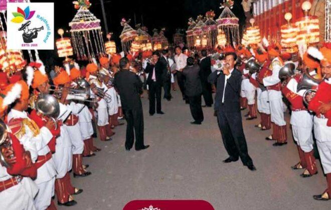 band performing at baraat