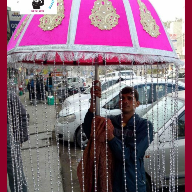 pink umbrella light